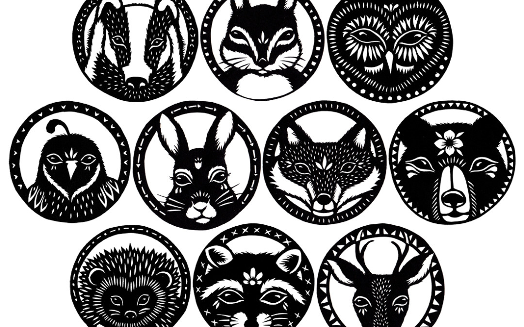 Woodland Critters – A Series of Paper Cuttings